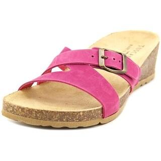 Easy Street Sandalo Women WW Open Toe Leather Purple Wedge Sandal
