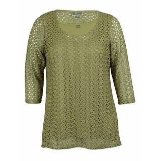 JM Collection Women's Crochet Top