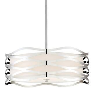 """Platinum PCMC2820 Mystic 4 Light 20"""" Wide Pendant with Fabric Shade