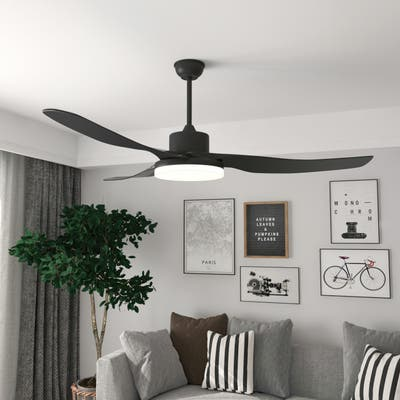 3-level Speed Ceiling Fan With 3 Color Light Model