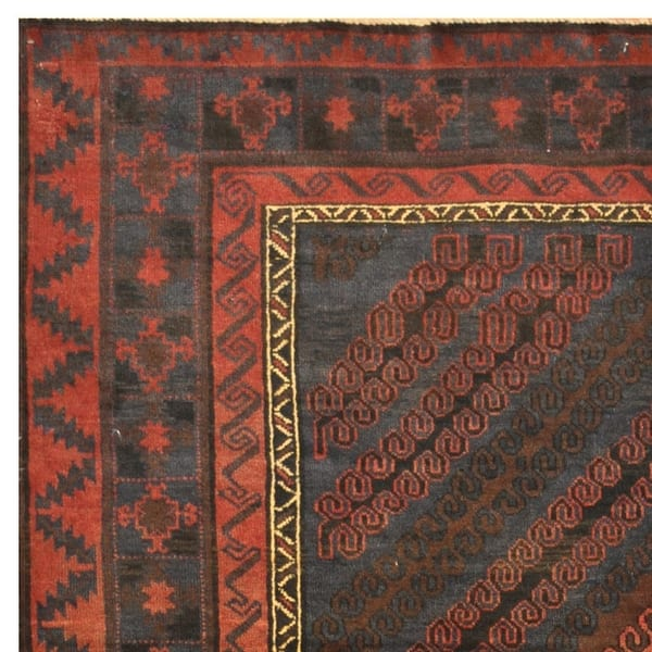 Shop Handmade One Of A Kind Balouchi Wool Rug Afghanistan 6 6 X 11 On Sale Overstock 31267054