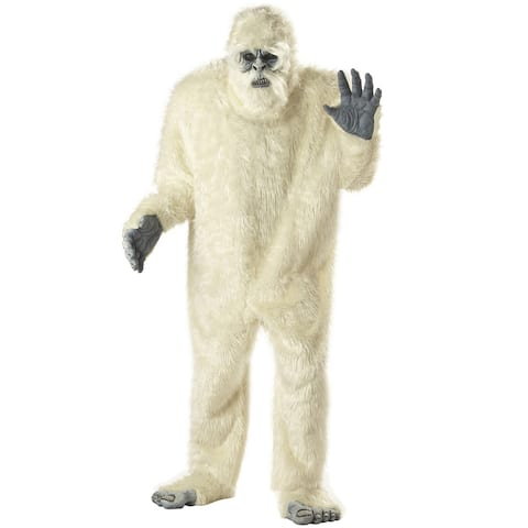 California Costumes Abominable Snowman Adult Costume - White - One Size Fits Most