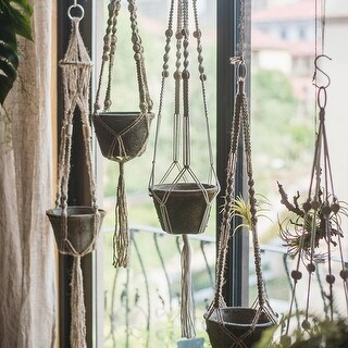 RusticReach Cotton Hemp Rope Planter Hanger