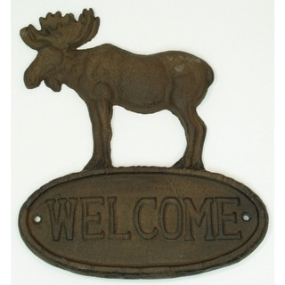 Cast Iron Sign Welcome Moose Set of 2