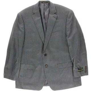 Lauren Ralph Lauren Mens Silk/Wool Plaid Sportcoat