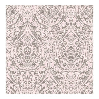 Link to Gypsy Light Pink Damask Wallpaper - 20.5in x 396in x 0.025in Similar Items in Wall Coverings