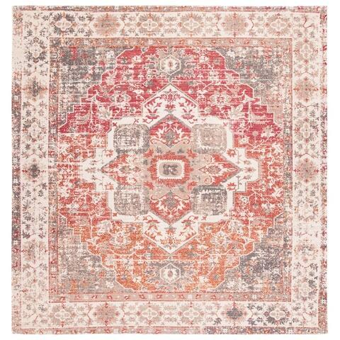Safavieh Handmade Saffron Traditional Tribal Beige/Red Cotton Rug