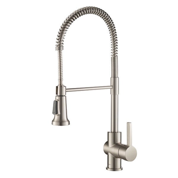 Kraus Britt Commercial 3-Function 1-Handle Pulldown Kitchen Faucet. Opens flyout.