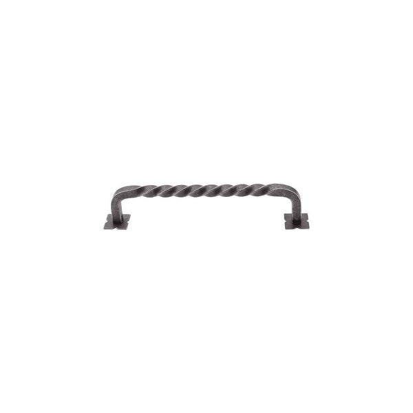 "Top Knobs M736 Square 6"" Center to Center Handle Cabinet Pull from the Normandy Series - PEWTER - n/a"