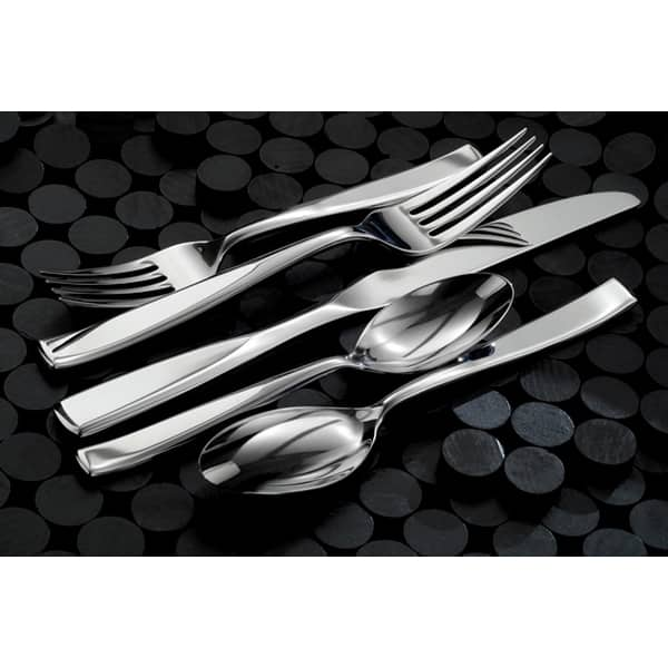 Oneida 18 0 Stainless Steel Tidal Oyster Cocktail Forks Set Of 12 On Sale Overstock 32644243