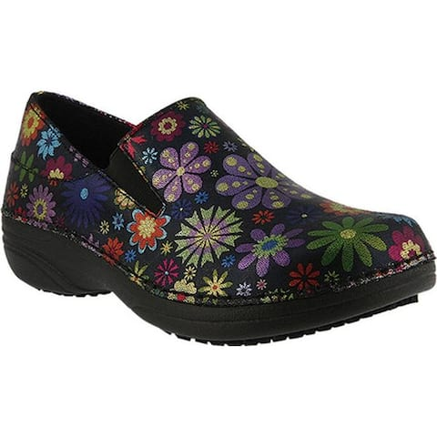 Spring Step Women's Manila Black Flowerpower Printed Leather
