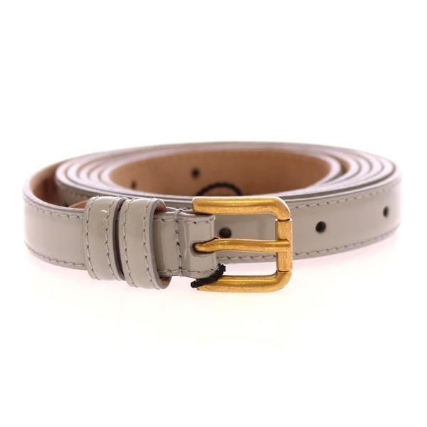 Dolce & Gabbana Dolce & Gabbana Gray Leather Logo Belt - 90-cm-36-inches