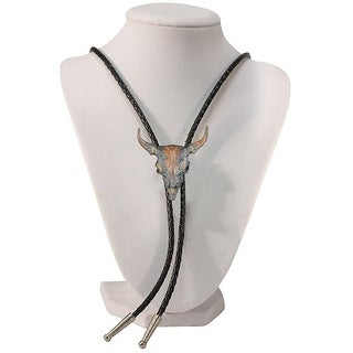 Skull Western Bolo Tie - One size