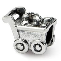 Sterling Silver Reflections Kids Shopping Cart Bead (4mm Diameter Hole)