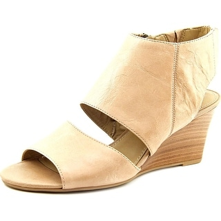 Franco Sarto Kressa Women Open Toe Leather Tan Wedge Heel