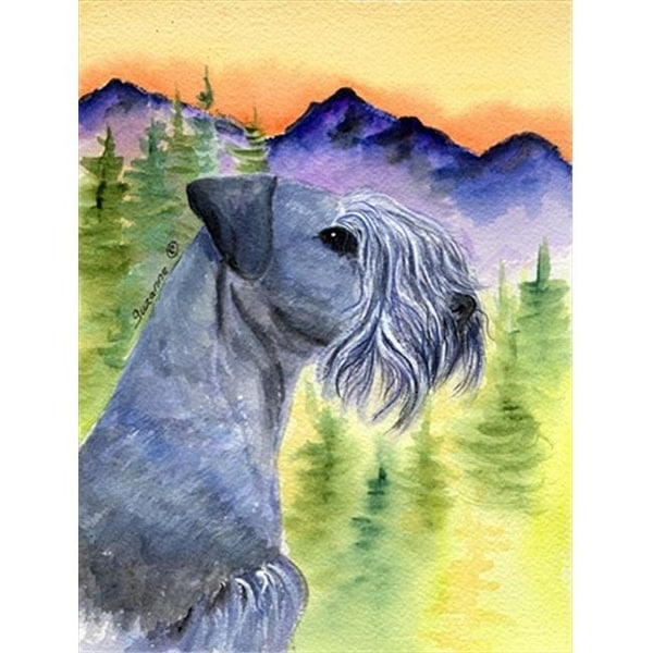 Cesky Terrier Canvas Flag - House Size, 28 x 40 in