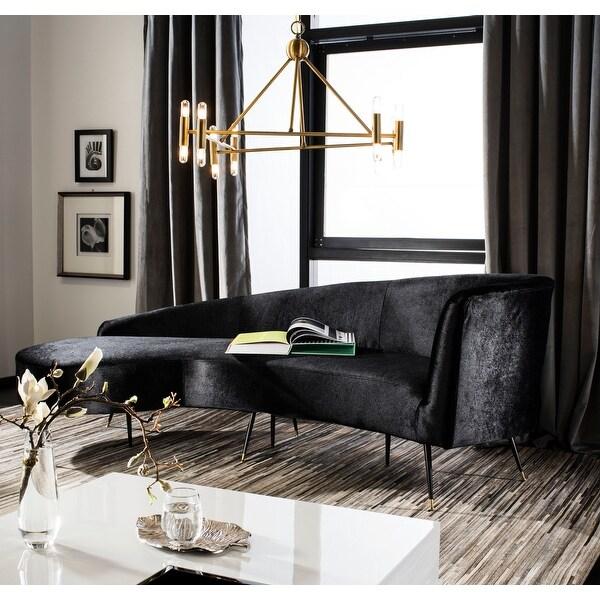 """Safavieh Couture Evangeline Velvet Parisian Sofa - 86"""" W x 40.5"""" L x 31"""" H - 86"""" W x 40.5"""" L x 31"""" H. Opens flyout."""