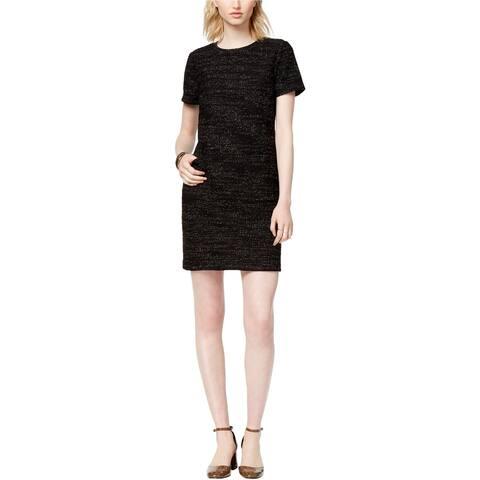 Maison Jules Womens Textured Shift Dress