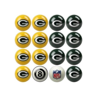 NFL Green Bay Packers Home vs. Away Team Billiard Pool Ball Set - White