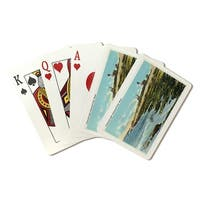 Pemaquid Point, ME - Lighthouse - Vintage Halftone (Poker Playing Cards Deck)