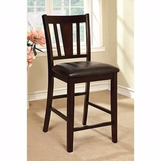 Leatherette Parson Chair Counter Height Chair, Set Of 2