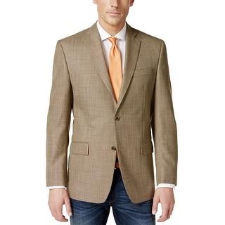Michael Kors Classic Fit Tan Neat Two-Button Sportcoat Blazer 46 Long 46L