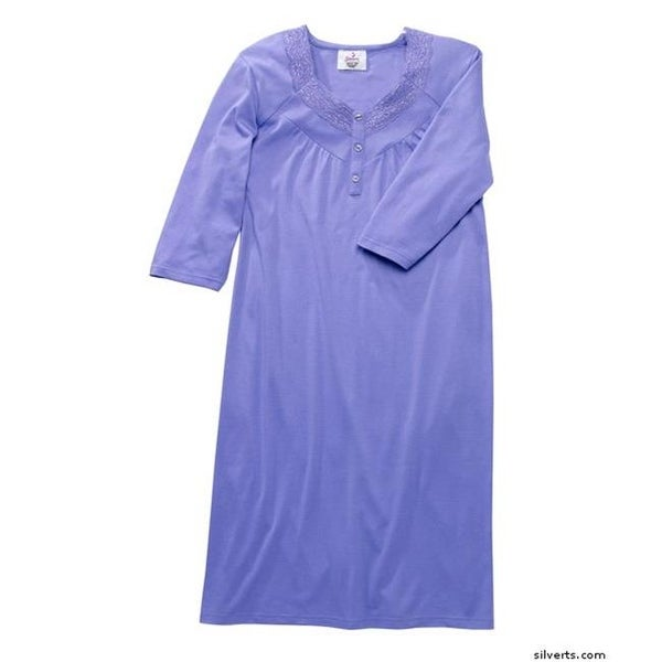 Shop Womens Pretty Hospital Patient Night Gowns, Deep Mauve - Medium ...