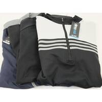 Adidas 3 Pack Zip Pullover Medium Black Black and Blue Logo Overuns Limited Ed