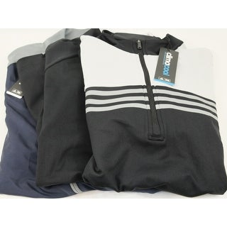 Adidas 3 Pack Zip Pullover Medium Black Black and Blue Logo Overuns Limited Ed
