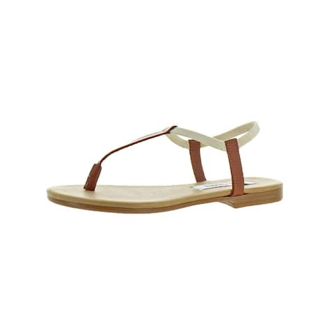 d0176e1c3fdc Steve Madden Womens Synergy T-Strap Sandals Mixed Media Thong