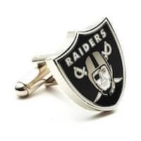 Silver Plated Oakland Raiders Cufflinks
