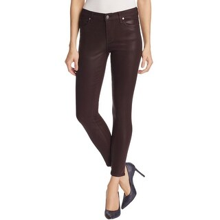 7 For All Mankind Womens Skinny Jeans Faux Leather Ankle