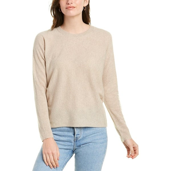 Vince Dropped-Shoulder Cashmere Top. Opens flyout.