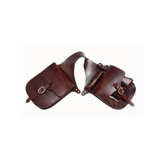 Tough-1 Saddle Bag Premium Leather Medicine Trail Dark Oil