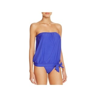 Athena Womens Solid Side Tie Swim Top Separates
