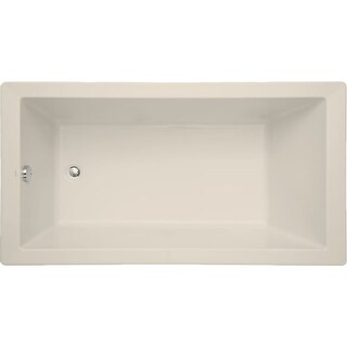 "Mirabelle MIRSKS6032  Sitka 60"" X 32"" Acrylic Soaking Bathtub for Drop In or Undermount Installations with Reversible Drain"