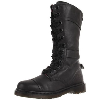 Dr. Martens Womens Triumph 1914 Leather Fold-Over Combat Boots