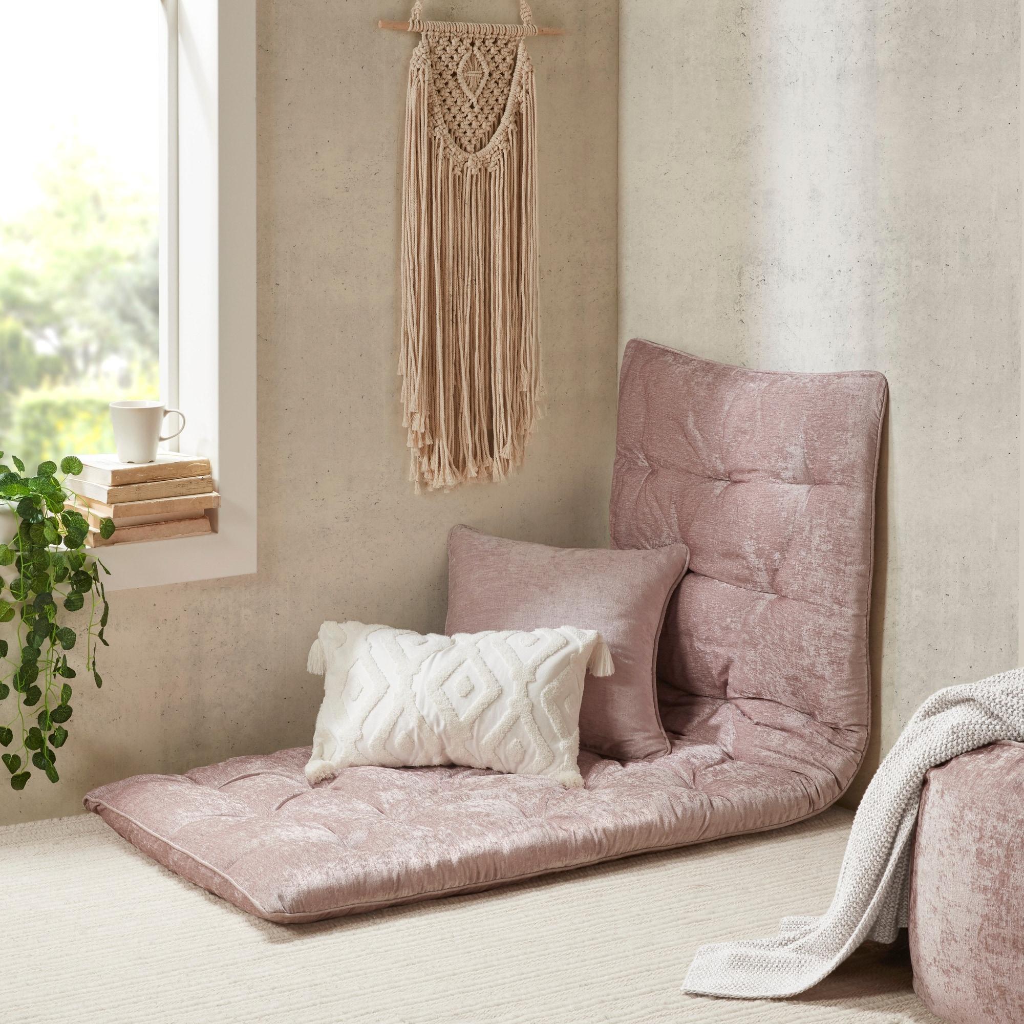 Intelligent Designs Arwen Poly Chenille Lounge Floor Pillow Overstock 21516854
