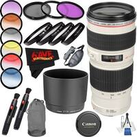 Canon EF 70-200mm f/4L USM Lens International Version (No Warranty) Professional Accessory Combo