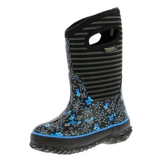 "Bogs Boots Girls Kid 10"" Classic Flower Stripe WP Rubber 71560"