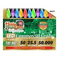 Holiday Bright Lights LEDBX-C650-MU 50 Light C6 LED Light Set - Multi