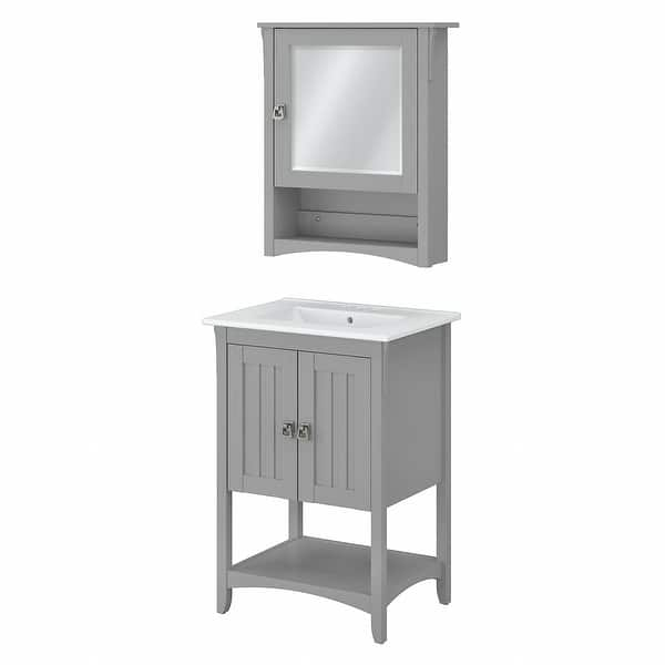 Salinas 24w Bathroom Vanity Sink Medicine Cabinet By Bush Furniture Overstock 32548489
