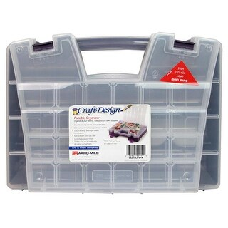 Akro-Mils Craft Portable Organizer Clear/Purple