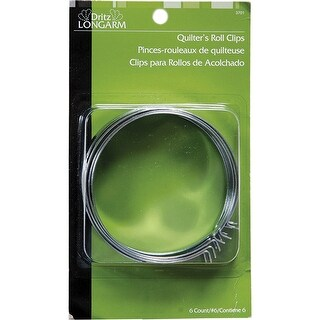 Dritz Longarm Quilter's Roll Clips-6/Pkg