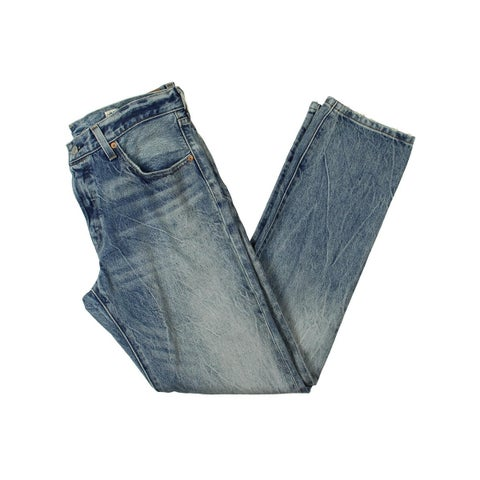 Levi's Womens Straight Leg Jeans Acid Wash Original Fit