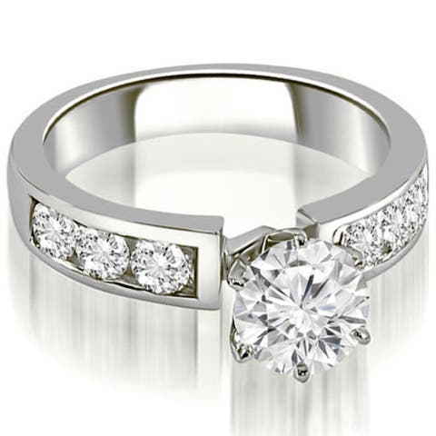 1.75 CT Classic Channel Round Cut Diamond Engagement Ring in 14KT Gold - White H-I