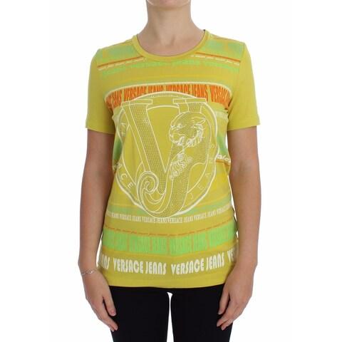 Versace Versace Yellow Crewneck Studded T-shirt - 42-s