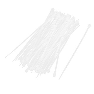 50x Replacement 3mm Wide Cable Tie Bundle Nylon Fastener Wrap Off White