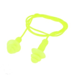 Unique Bargains Corded Round Design Silicone Swiming Ear Earplugs for Adults Youth