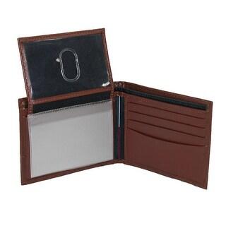 Tommy Hilfiger Men's Leather Cambridge Billfold Passcase Wallet - One Size